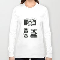 cameras Long Sleeve T-shirts featuring Three cameras. by WEUSEDTODANCE