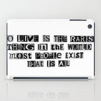 oscar wilde iPad Cases featuring Oscar Wilde Quote by Rachel Weissman