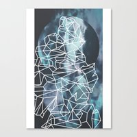 gossip girl Canvas Prints featuring Gossip by Lousy Voilet
