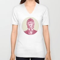 c3po V-neck T-shirts featuring C3PO by NJ-Illustrations