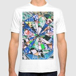 Green Graffiti Abstract Mosaic T-shirt