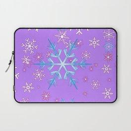 LILAC PURPLE WINTER SNOWFLAKES Laptop Sleeve