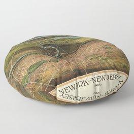Map Of Newark 1916 Floor Pillow