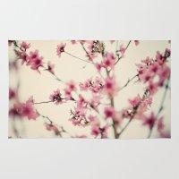 sakura Area & Throw Rugs featuring Sakura by Laura Ruth