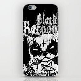 Grim Black Metal Corpse Paint Racoon! iPhone Skin