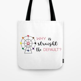 why is straight the default Tote Bag