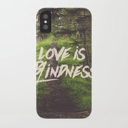 love is blindness iPhone Case