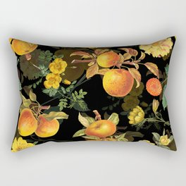 Vintage & Shabby Chic - Midnight Golden Apples Garden Rectangular Pillow