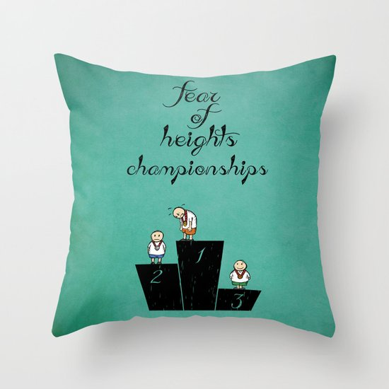 fear of height Throw Pillow