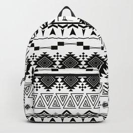 Aztec black white pattern. Backpack