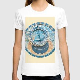 Closeup on Prague Astronomical Clock T-shirt