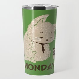Monday Cat Travel Mug