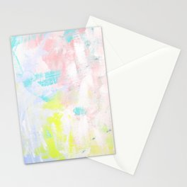 Summer Garden_Dusty Pink & Purple abstract painting Stationery Cards
