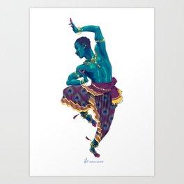 Bharatanatyam Dancer Art Print