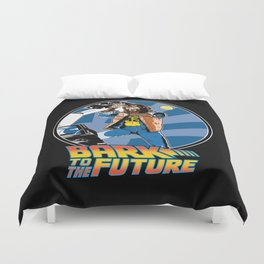 Bark to the Future Duvet Cover