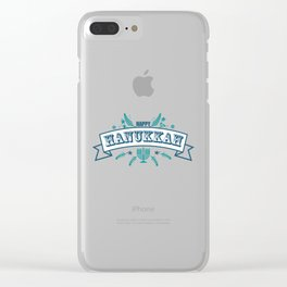 The first day of Hanukkah Clear iPhone Case