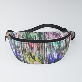 Patchwork color gradient and texture 3 Fanny Pack