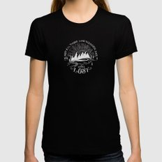 wander Womens Fitted Tee Black LARGE
