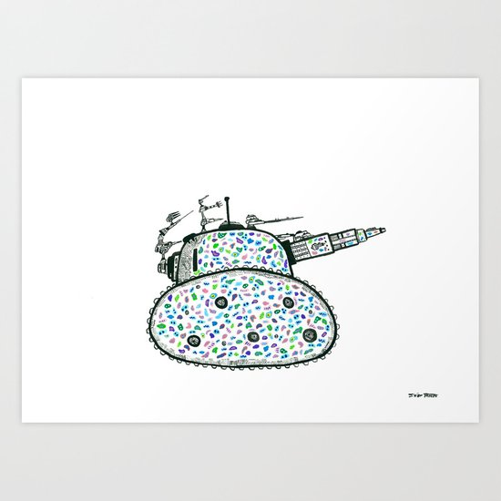 The People Mocked the Tank, Used-Gumming It to Death Art Print