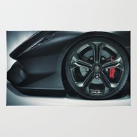 lamborghini Area & Throw Rugs featuring Lamborghini Sesto Elemento  by Spyck