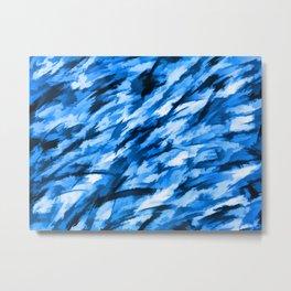 Blue Designer Camo Metal Print