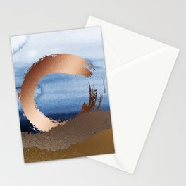 Inspiration: Gold, Copper And Blue Stationery Cards