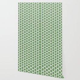Hearts Clover Pattern Wallpaper