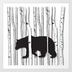 Lonely Bear Art Print