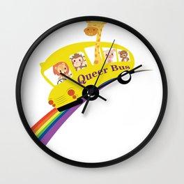 Queer Bus Wall Clock