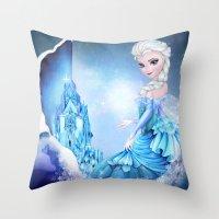 elsa Throw Pillows featuring ELSA by Annya Kai
