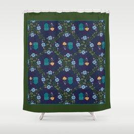 Tea Bloom Shower Curtain
