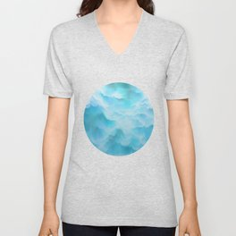 Clouds and mountains. Abstract. Unisex V-Neck