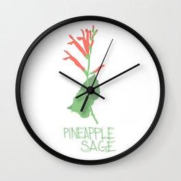 Pineapple Sage Flower Wall Clock