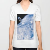 ice V-neck T-shirts featuring Ice by Euan Anderson