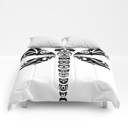 Tribal Dragonfly Tattoo Comforters