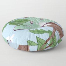 Pair of Lunar Moths Floor Pillow