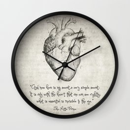 The Little Prince Quote Wall Clock