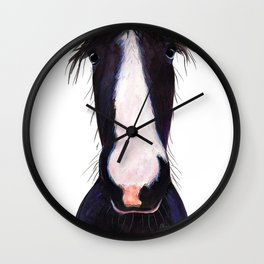 "Happy Horse "" JeFF ' by Shirley MacArthur Wall Clock"