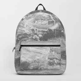 Real Gray Marble Backpack