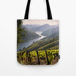 Vineyards along the Douro Valley, Portugal Tote Bag