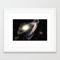 rileigh smirl Framed Art Prints featuring Galaxy by Rileigh Smirl