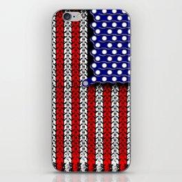 Bike USA Flag iPhone Skin