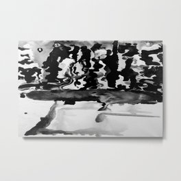 Dripping Tease in Black and White Metal Print