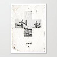 cross Canvas Prints featuring Cross by Anna Pietrzak