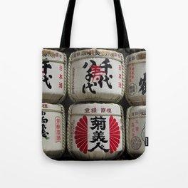 Sake Barrels Tote Bag