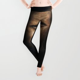 The Alcoholic (oil on canvas) Leggings