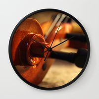 violin Wall Clocks featuring Violin by Allan Delph