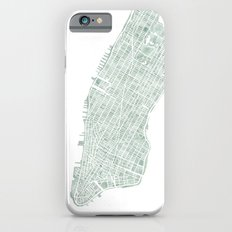 Map Manhattan NYC watercolor map Slim Case iPhone 6s