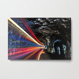 Time Lapse Yenzikou tunnel at Taroko National Park color photography - photographs by Fu Tang Chen Metal Print