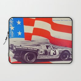Vintage USA Racing Poster Laptop Sleeve